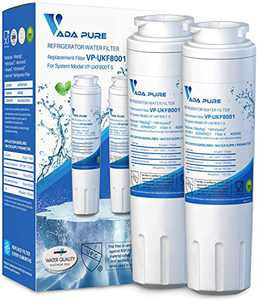 Vada Pure - UKF8001 Refrigerator Water Filter Replacement for Whirlpool EDR4RXD1, Maytag UKF8001P, Advanced Metal and Chlorine Filtration - Pack of 2