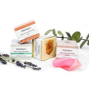Natural Bath Bombs Gift Set: Lavender, Eucalyptus, Rose & Lemongrass Epsom Salt Bath Bombs with Organic Essential Oils for an Aromatherapy Moisturizing and Nourishing Muscle Recovery Bath Soak