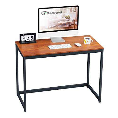 GreenForest Computer Desk for Small Space Modern Home Office Desk 40 Inch Simple PC Laptop Study Table Workstation, Espresso