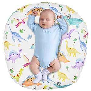 Newborn Lounger Cover, Dinosaur Lounger Pillow Case for Babies, Snug Fitted Removable Slipcover, Babynest Cover for Boys & Girls, Lovey Super Soft Snug Fitted, (Lounger Pillow Not Included)