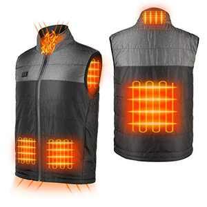 Heated Vest for Men Women Electric Heating Fishing Vests Warm Heat Winter (Black, L)