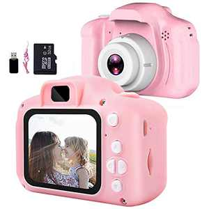 Hawiton Kids Digital Camera for Boys Girls, Children Kids Camera for Toddler Kids- 1080P HD Video Selfie Camera Toddler Toy for 3 4 5 6 7 8 Year Old Girls & Boys Birthday Gifts, with 32GB SD Card