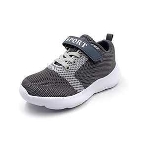 TISGOTAN Boys Shoes,Kids Sneakers,Boys Tennis Shoes,TSZD06 Gray Big Kid 3