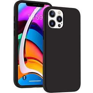 Cucell Compatible with iPhone 12 Pro Max Case 6.7 inch(2020),Liquid Silicone Gel Rubber Full Body Protection Cover Shockproof Durable Drop Proof Shell-Black