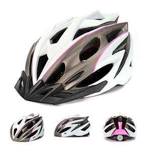 Adult Bike Helmet with Visor Unisex Cycling Sport Headwear Multi-Sports Gear Protector Men Women Adjustable Lightweight Skateboard Scooter Helmet Mountain Biking Safety Protector 20 Vent Breathable