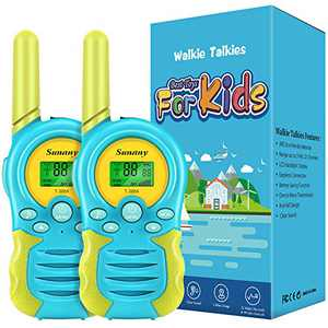 Walkie Talkies for Kids,Toys for 3-12 Year Old Boys Girls,2 Pack Kids Walkie Talkies Long Range 3 KMs with 22 Channels 2 Way Radio,Birthday Gifts for Children to Outside Adventure(Blue)