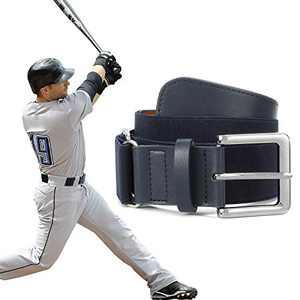 XZQTIVE Baseball Belts Softball Belt - Women/Men Sports Adjustable Elastic Uniform Belts, Navy Blue (Fit pant size 27-32 inch)