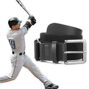XZQTIVE Baseball Belts Softball Belt - Women/Men Sports Adjustable Elastic Uniform Leather Belts, Black (Fit pant size 27-32 inch)