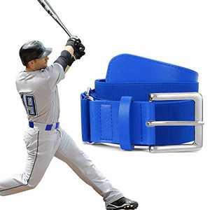 XZQTIVE Baseball Belts Softball Belt - Women/Men Sports Adjustable Elastic Uniform Belts, Blue (Fit pant size 33-40 inch)