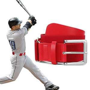 XZQTIVE Baseball Belts Softball Belt - Women/Men Sports Adjustable Elastic Uniform Belts, Red (Fit pant size 27-32 inch)