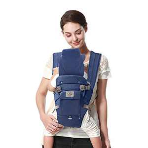 """Baby-Carrier, Upgraded-Baby-Carrier-with-Hat - FRUITEAM More Warmful """"X"""" Cross Baby Carrier for Newborn in Winter, (Eveningmist Blue)"""
