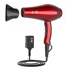 Hair Dryer 1875W, Professional Infrared Hair Dryer, Negative Ionic Blow Dryer Fast Drying, Ceramic Hairdryer with Diffuser, Concentrator, Comb, Adjustable 3 Heat and 2 Speed Setting, Cool Button