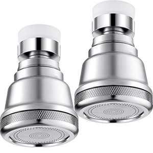 2 Pieces Brass Kitchen Faucet Sprayer Head Moveable Kitchen Tap Head 360 Degree Rotatable Kitchen Faucet Spray Adjustable Water Saving Faucet for Kitchen