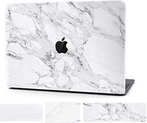 Timocy Hard Case Compatible with MacBook Pro 13 Inch A2289– Marble Laptop Case with Keyboard Cover, Screen Protector, Touch Pads Sticker Enhanced Protection Gorgeous Designs,Alabastrine Marble