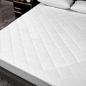 Lipo Queen Mattress Pad Cover Cooling Mattress Topper Pillow Top with Down Alternative Fill - 8-21 Inch Deep Pocket Mattress Pad - White