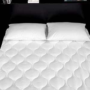 Lipo Quilted Fitted Mattress Pad (Twin) - Mattress Cover Stretches up to 21 Inches Deep - Mattress Topper