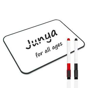 Junya Small White Board for Kids Students (11.8 x 8.3inch),Light Weight Classroom Dry Erase Boards Double Sided Office Message Reminder Whiteboard, Portable Education Tools