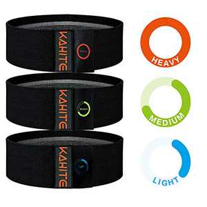 Resistance Bands for Legs and Butt, Exercise Bands, Black Booty Bands, Upgraded Hip Bands, Non-Slip Elastic Band Loops, Thick Wide Sports Workout Bands, 3 Set Body Bands for Glute Training