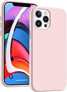 Cucell Compatible with iPhone 12 Case iPhone 12 Pro Cases 6.1 inch(2020),Liquid Silicone Gel Rubber Full Body Protection Shockproof Durable Drop Proof -Pink Sand