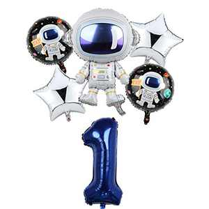 Space Birthday Party Balloons Decorations for Boys 1st Party, Large Astronaut Balloons Party Supplies (1)