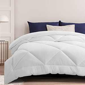 All Season Duvet Insert King Comforter-Soft Quilted Down Alternative Duvet Insert-Machine Washable Bedding-Plush Microfiber Fill Hotel Style Stand Alone Comforter with 8 Corner Tabs-White 90×102inch