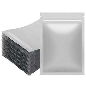 Colovis 100 Pack Resealable Mylar Bags, Heat-sealable Aluminum Foil Ziplock Storage Pouch with Tear-Notch for Samples, Food and Homemade Crafts (4.7 X 7.9 inches)