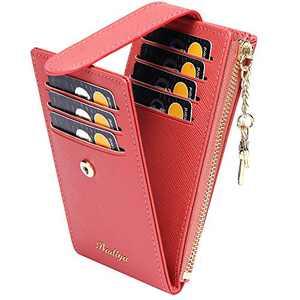 Badiya RFID Card Holder Wallet for Women Slim Bifold Zipper Card Cases Money Organizers UPDATE