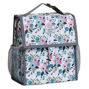 Insulated Reusable Lunch Tote Bag Durable lunch Box Container for Women Adult Men (LD19112-BEIGE)