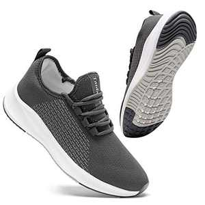 Tasdaker Mens Sneakers Athletic Shoes Running Tennis Shoes for Men Slip On Gym Sports Shoes for Men Breathable Lightweight Fashion Men Sneakers Clearance Walking Shoes for Jogging Grey