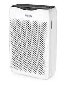 Bagotte Air Purifiers for Home, 25dB Quiet Air Cleaner with H13 True HEPA Filter, CADR 210m³/h, Removes 99.97% of Pollen, Allergens, Smoke, Odors, for Bedroom, Office, 4 Speeds, Timer