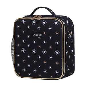 Insulated Reusable Lunch Tote Bag Durable lunch Box Container for Women Adult Men (LD191106-BLACK)