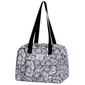 Insulated Reusable Lunch Tote Bag Durable lunch Box Container for Women Adult Men (LD191113-WHITE)