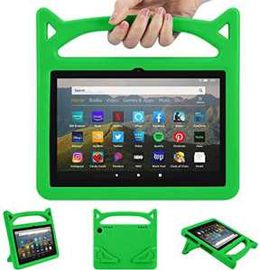 """2020 F i r e H D 8 Kids Case Kids Light Weight Shock Proof Handle and foldable stand Case for A m a z o n F i r e H D 8/8 plus Tablet (8"""" Display -2020 Release) (2020 10th, Red)"""