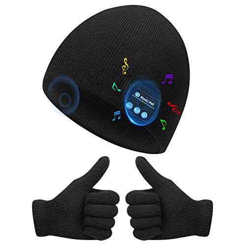 Bluetooth Beanie Hat for Adult Men Women, Music Christmas Birthday Gift