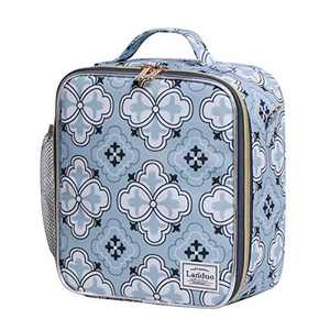 Insulated Reusable Lunch Tote Bag Durable lunch Box Container for Women Adult Men (LD191106-BLUE)