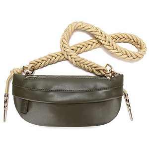Badiya Classic Waist Pack for Women Braided Knot Chest Bag Luxury Shoulder Handbag Clutch Purse