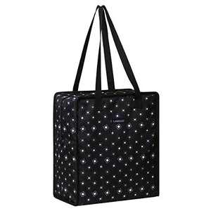 Insulated Reusable Lunch Tote Bag Durable lunch Box Container for Women Adult Men (LD191129-BLACK)