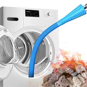 PetOde Dryer Vent Cleaner Kit Dryer Vent Vacuum Attachment Lint Remover Power Washer and Dryer Vent Vacuum Hose(Light Blue)