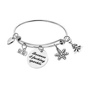 Inspirational Personalized Bracelet for Women Charm Bracelets Gifts for Teen Teenage Girl Birthday Presents Adjustable Expandable Engraved Motivational Encouragement Dainty Jewelry Memorial Gift for Her