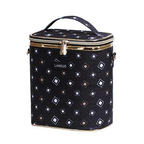 Insulated Reusable Lunch Tote Bag Durable lunch Box Container for Women Adult Men (LD191105-BLACK)