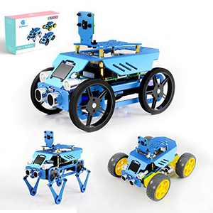Adeept 3-in-1 Alter Raspberry Pi Robot Car Kit, STEAM Robot Kit with OLED Display, OpenCV Target Tracking, Video Transmission, Raspberry Pi Robot for Raspberry Pi 4/3 Model B+/B with PDF