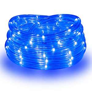 Areful Rope Lights, 16Ft Waterproof Connectable Strip Lighting Blue, Indoor Outdoor Mood Lighting for Home Christmas Holiday Garden Patio Party Decoration