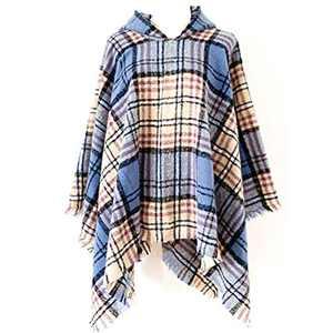 Uusialku Boho Fall Winter Fashion Tassel Shawl Wraps for Women,Ladys Soft Warm Party Plaid Shawl for Women(Style DP-7)