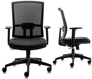 CHAIRLIN All Day Comfort Mesh Mid-Back Adjustable Multifunction Office Chair Ergonomic Computer Desk Chair with Armrest