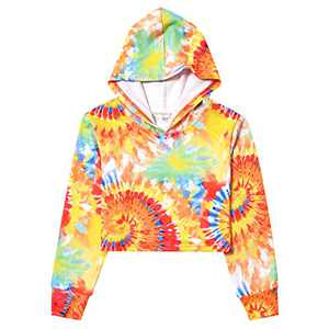 Teen Crop Top Hoodie Winter Tie Dye Sweatshirt Long Sleeve Pullover Winter Tops 12t 13t
