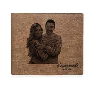 Wallet for Men Customized Wallets for Men Personalized Wallet Gifts for Men Custom Picture Wallet for Dad, BF (Brown 3)