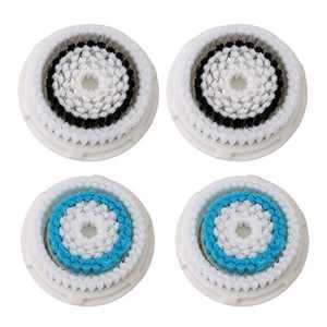 Facial Cleansing Brush Head Replacement, Facial Cleansing Brush Head, For Clogged and Enlarged Pores(Super Soft 4 packk)