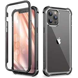 "Dexnor Compatible with iPhone 12 Pro Max Case with Screen Protector Clear Military Rugged 360 Full Body Protective Shockproof Hard Defender Heavy Duty Cover Bumper for iPhone 12 Pro Max 6.7"" Black"
