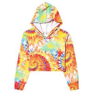 Girls Tie Dye Sweatshirt Long Sleeve Cropped Pullover Crop Top Winter Hoodie 10t 11t