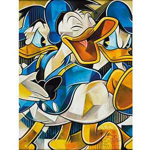 Disney Diamond Painting for Kids Easy, DIY 5D Diamond Art Kits for Adults Clearance, Crystal Rhinestone Diamond Embroidery Paintings 11.8x15.7inch (Duck)